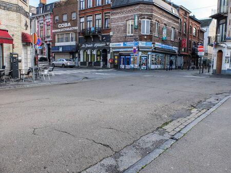 Charleroi, Belgium - December 28 2019: Charleroi city streets