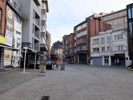 Charleroi, Belgium - December 28 2019: Place de la Digue
