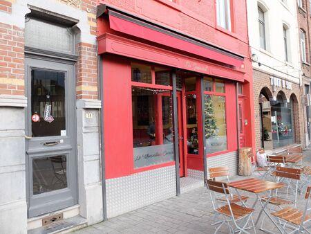 Charleroi, Belgium - December 28 2019: Le Marseillais Carolo, a mediterranean restaurant in Charleroi, Place de la Digue Éditoriale
