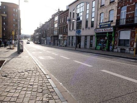 Charleroi, Belgium - December 28 2019: Street in Charleroi