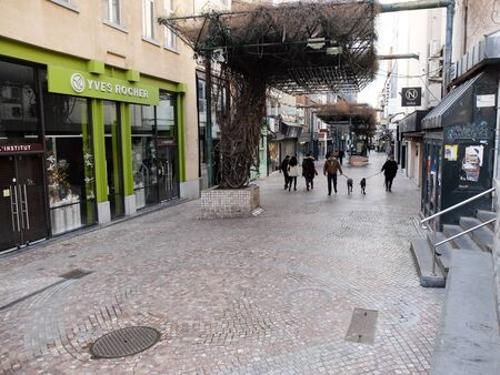 Charleroi, Belgium - December 28 2019: Street of Dampremy