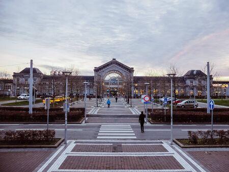 Charleroi, Belgium - December 28 2019: Charleroi bus and train station