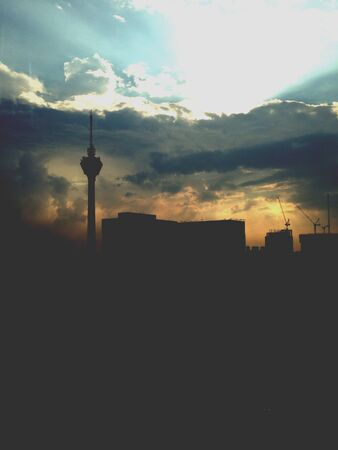 kl: Beautiful sunset with KL tower view