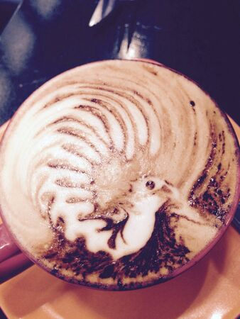 style: Bird style cappuccino