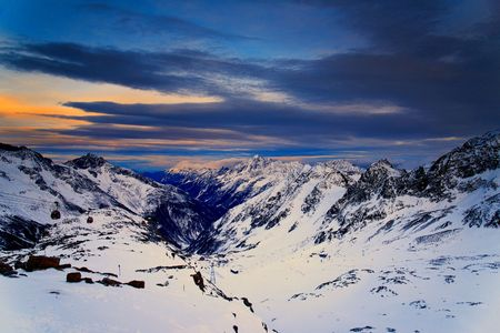 morning blue hour: Stubai glacier