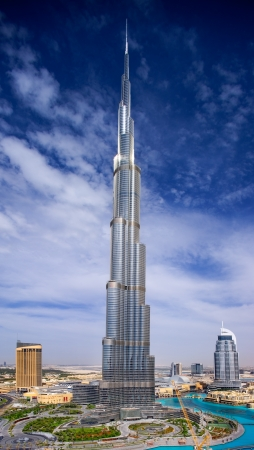 biggest: A view of Downtown Dubai, showing the Burj Khalifa and the Address Hotels