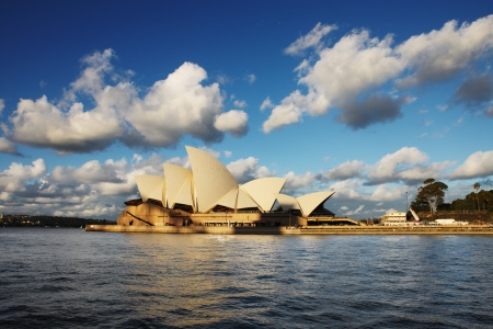 A profile of Sydney Opera House as seen from a Sydney Harbour Ferry