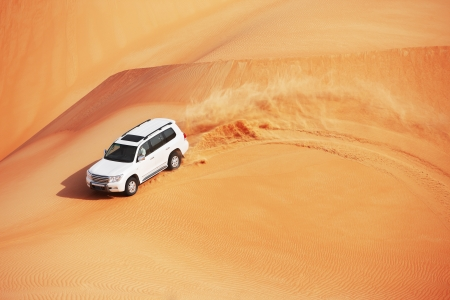 4 by 4 dune bashing is a popular sport of the Arabian desert Stock Photo - 16164208