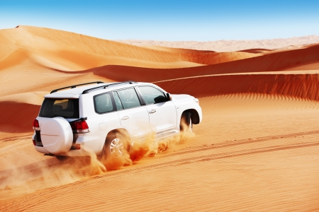 4 by 4 dune bashing is a popular sport of the Arabian desert Stock Photo - 16164207