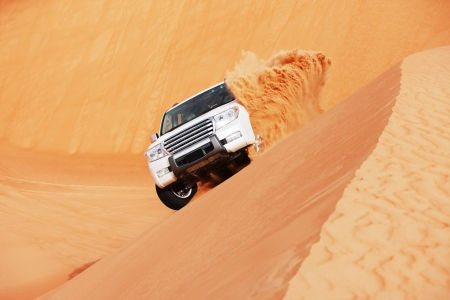 4 by 4 dune bashing is a popular sport of the Arabian desert Stock Photo - 16164180