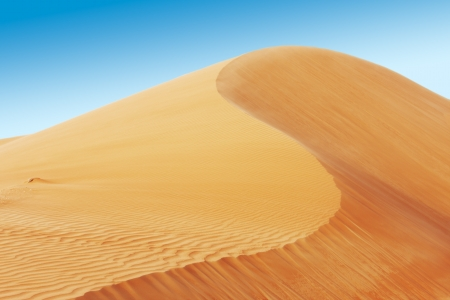A view of the rolling sand dunes of the Arabian desert Stock Photo - 16164168