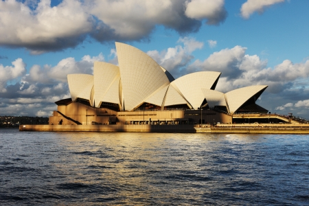 A profile of Sydney Opera House as seen from a Sydney Harbour Ferry Editorial