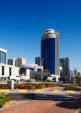 A street-scape of Abu Dhabi as it develops in the twenty first century Stock Photo - 16372381