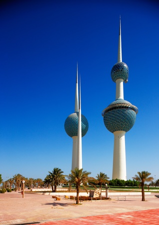 These beautiful architectural structures are icons of the Kuwait City skyline