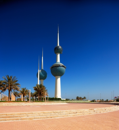 These beautiful architectural structures are icons of the Kuwait City skyline Stock fotó - 16558692