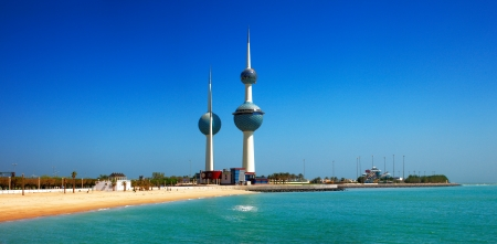 These beautiful architectural structures are icons of the Kuwait City skyline Stock fotó - 16558689