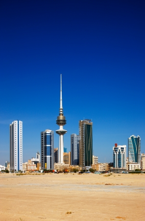Kuwait City has embraced contemporary architecture and tall towers now populate the city skyline  Image taken July 2010