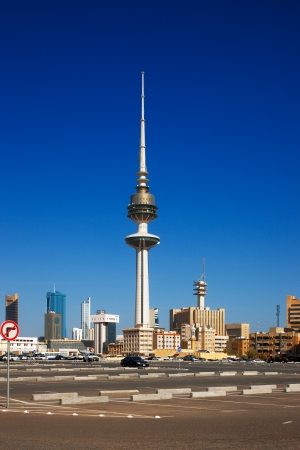 populate: Kuwait City has embraced contemporary architecture and tall towers now populate the city skyline  Image taken July 2010