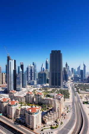 DIFC is the financial hub of Dubai and is graced with beautiful high rise architecture  Image taken May 2010