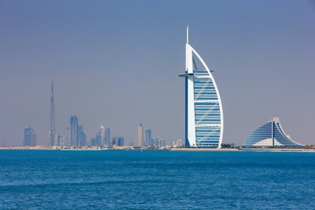 Dubai has become known as the playground for architects and any skyline view will testify to that  Image taken May 2010