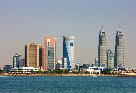 Tecom is largely a business district in Dubai  Image taken May 2010