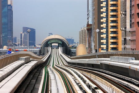 The Dubai Metro line is like an undulating vertical curve  Image taken May 2010
