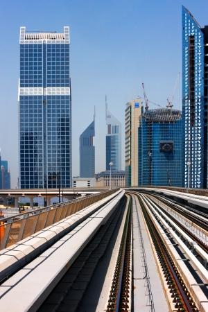 The Dubai Metro goes through the DOFC district  Image taken May 2010