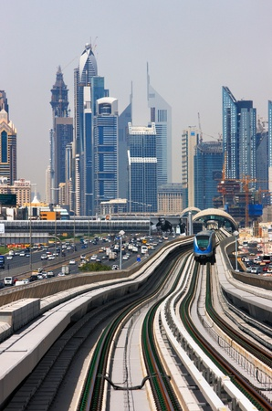 increasingly: The Dubai Metro is becoming increasingly popular among expatriates trying to battle with the Skeikh Zayed traffic  Image taken May 2010