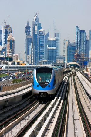 The Dubai Metro is becoming increasingly popular among expatriates traveling to and from work  Image taken May 2010