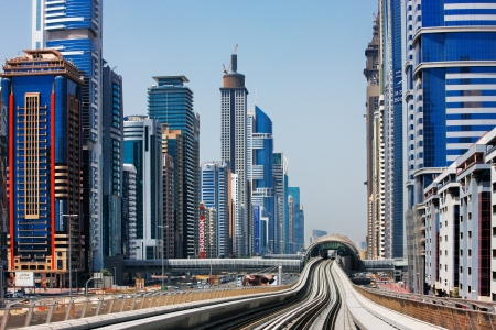 The Dubai Metro is becoming increasingly popular among expatriates  Image taken May 2010