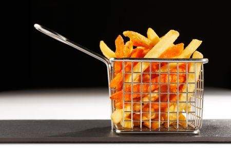 frites: A beautiful basket of deep fried chips, also known as French Fries are more British than French