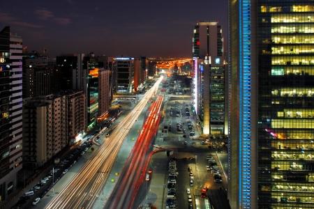 abu dhabi: Abu Dhabi Rush Hour Traffic on Salam Street Editorial