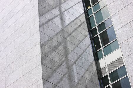 big window: Granite, glass and steel combine in contemporary architecture and generate wonderful reflections