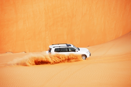4x4 dune bashing is a popular sport of the Arabian desert Stock Photo - 17176146