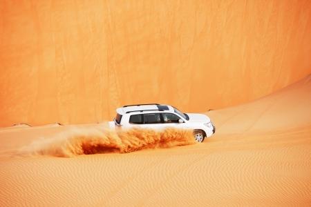 4x4 dune bashing is a popular sport of the Arabian desert Stock Photo - 17176146