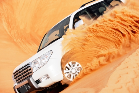 off road vehicle: 4x4 dune bashing is a popular sport of the Arabian desert
