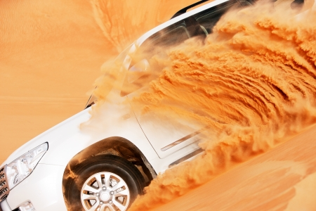 4x4 dune bashing is a popular sport of the Arabian desert