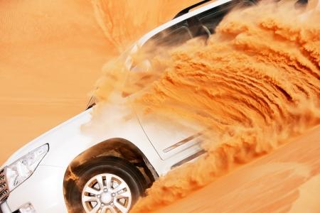 4x4 dune bashing is a popular sport of the Arabian desert Stock Photo - 17176147