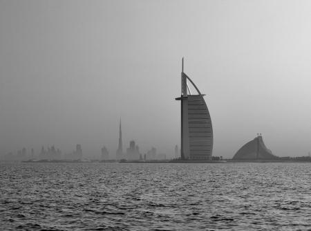A skyline view of Dubai on a hazy morning still offers a delightful cityscape
