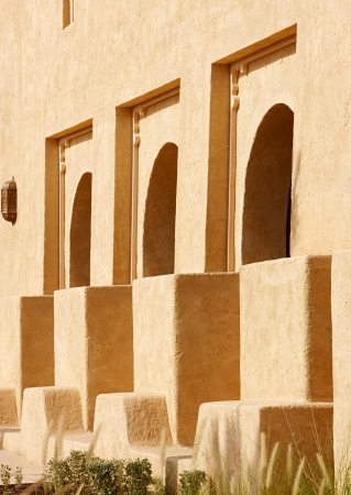 Beautiful detailing of arabesque architecture in the Gulf Peninsula