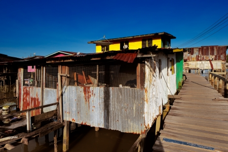 existed: Brunei s famed water villages existed more than a century  30000 people living there  They are fully self sufficient, with their own mosques, schools, shops, piped water, electricity and satellite TV