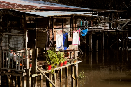 self sufficient: Brunei s famed water villages are fully self sufficient, with their own mosques, schools, shops, piped water, electricity and satellite TV  For transportation they use water taxis