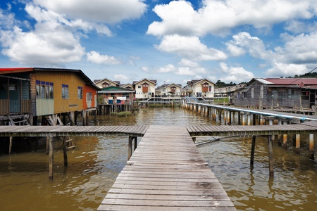 Brunei s famed water villages are fully self sufficient, with their own mosques, schools, shops, piped water, electricity and satellite TV  For transportation they use water taxis