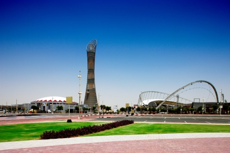 focal point: The Aspire Stadium and  tower served as the focal point for the 15th Asian Games hosted by Qatar in December 2006, and is said to pay a central role in the 2022 World Cup