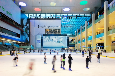 ICE RINK: The ice rink of the Dubai Mall, the largest shopping mall in the world with some 1200 stores