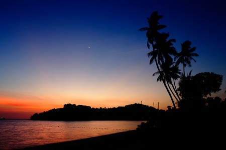particularly: Phuket in southern Thailand is a picturesque paradise, particularly at sunrise and sunset Stock Photo