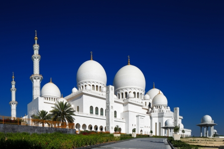 Sheikh Zayed Grand Mosque, Abu Dhabi is the largest in the UAE and the 3rd largest mosque in the world  It is the key place of worship for Friday gathering and Eid prayers in UAE photo