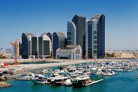 dhabi: Al Bateen Marina is overlooked by Al Bateen Towers in Abu Dhabi, UAE s capital Editorial
