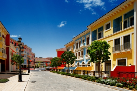 plazas: Qanat Quartier, The Pearl Qatars Venice-like community has an extensive canal system, pedestrian-friendly squares, plazas and beach front townhouses Editorial
