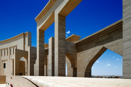 amphitheater: The Katara Amphitheater, Doha is a crafted balance between the classical Greek theater concept and the traditional Islamic features  Completed in 2008, it has a seating capacity of 5000 people